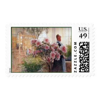 Carl Larsson  Azaleas Stamp