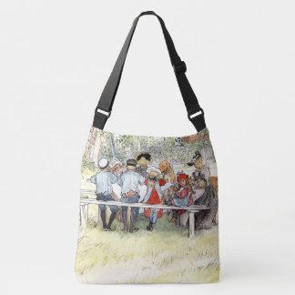 Carl Larsson Breakfast Birch Tree Family Tote Bag