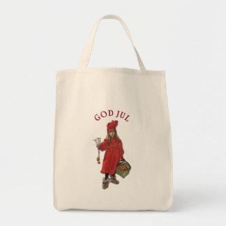 Carl Larsson Brita as Iduna Says God Jul Grocery Tote Bag