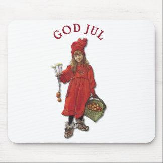 Carl Larsson Brita as Iduna Says God Jul Mouse Pad