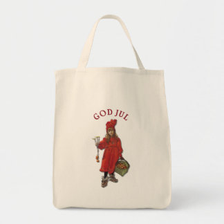 Carl Larsson Brita as Iduna Says God Jul Tote Bag