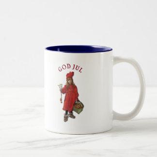 Carl Larsson Brita as Iduna Says God Jul Two-Tone Coffee Mug