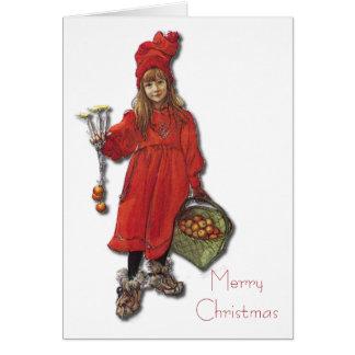 Carl Larsson Brita as Iduna Says Merry Christmas Card