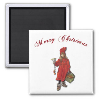 Carl Larsson Brita as Iduna Says Merry Christmas Magnet