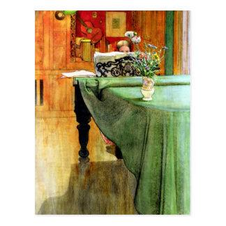 Carl Larsson: Brita en el piano Postal