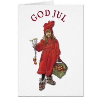 Carl Larsson: Brita - God Jul! Cards