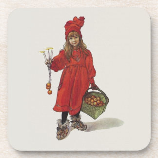 Carl Larsson Brita Little Swedish Girl Beverage Coaster