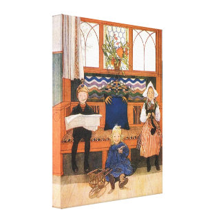 Carl Larsson Children Playing Grown Up Canvas Print