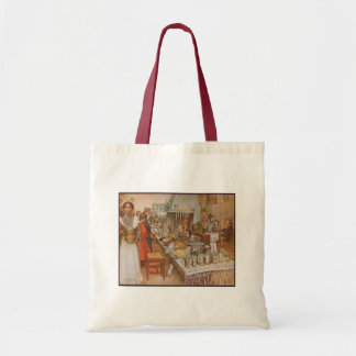 Carl Larsson Christmas Eve Vintage Budget Tote Bag
