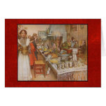 Carl Larsson Christmas Eve with Custom Text Greeting Card