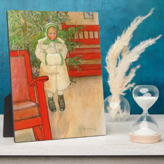 Carl Larsson Christmas Girl with Winter Muff Plaque