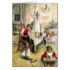 Carl Larsson Christmas Morning in Sweden Card