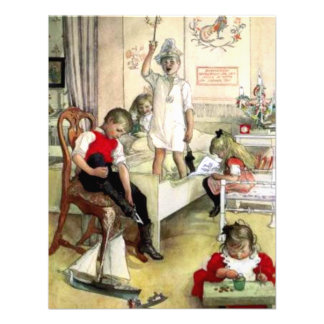 Carl Larsson Christmas Morning Personalized Invite