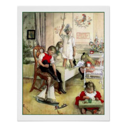 Carl Larsson Christmas Morning Vintage Scandinavia Poster
