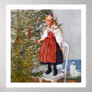 Carl Larsson Christmas Tree Fine Art Print Poster