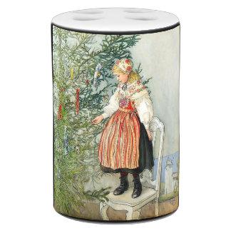 Carl Larsson Christmas Tree Trimming Bath Set