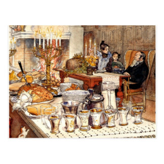 Carl Larsson: Detail of Christmas Eve, Larsson art Post Cards