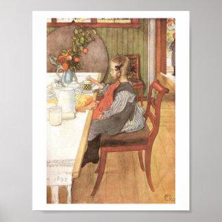 Carl Larsson el desayuno desgraciado de una última Póster
