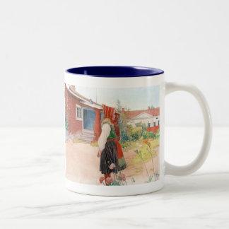Carl Larsson el escandinavo casero de Falun Taza De Dos Tonos