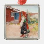 Carl Larsson - el hogar de Falun Ornamento De Navidad