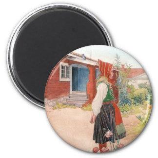Carl Larsson - el hogar de Falun Imán Redondo 5 Cm