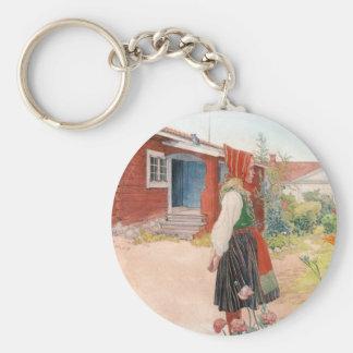 Carl Larsson - el hogar de Falun Llavero Redondo Tipo Pin