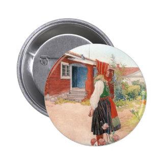 Carl Larsson - el hogar de Falun Pin Redondo 5 Cm
