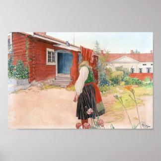 Carl Larsson el hogar de Falun Póster