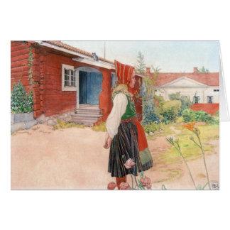 Carl Larsson el hogar de Falun Tarjeta De Felicitación