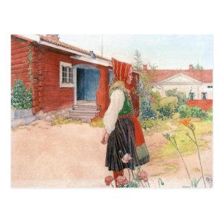 Carl Larsson el hogar de Falun Postal