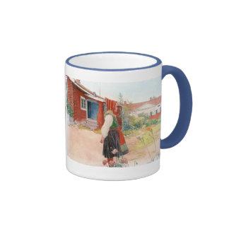 Carl Larsson el hogar de Falun Taza De Dos Colores