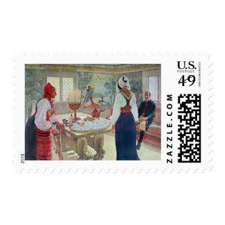 Carl Larsson En Bergman Stuga Postage Stamps