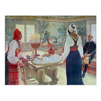 Carl Larsson  En Bergman Stuga Postcard