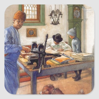 Carl Larsson en el taller 1853