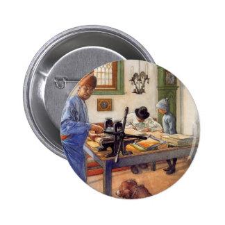 Carl Larsson en el taller 1853 Pin