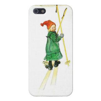 Carl Larsson Esbjorn en los esquís iPhone 5 Cárcasa