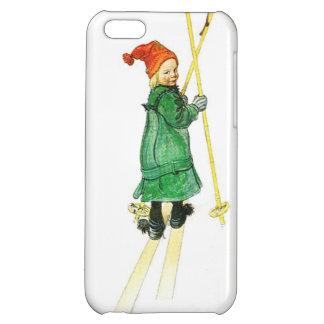 Carl Larsson Esbjorn On Skis iPhone 5C Cases