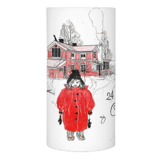 Carl Larsson Ett Hem Girl Snow Flameless Candle