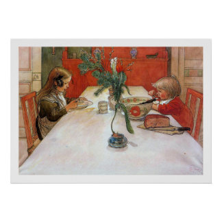 Carl Larsson Evening Meal Fine Art Print