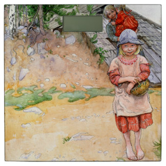 Carl Larsson Family By The Cellar Bathroom Scale
