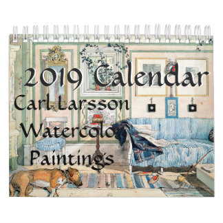Carl Larsson Family Watercolors 2019 Calendar