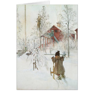 Carl Larsson - Front Yard and the Wash House Cards