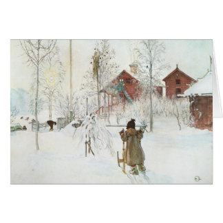Carl Larsson  Front Yard and the Wash House Card
