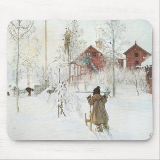Carl Larsson - Front Yard and the Wash House Mouse Pad