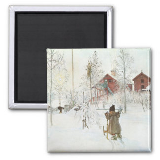 Carl Larsson Front Yard and Wash House Magnets