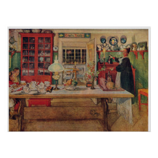 Carl Larsson Getting Ready for a Game Poster