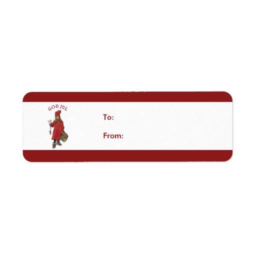 Carl Larsson: God Jul Christmas Gift Tag Label