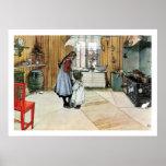 Carl Larsson In the Kitchen Fine Art Print