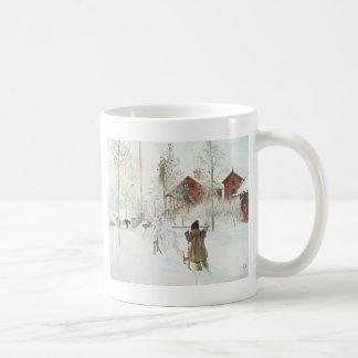 Carl Larsson - jardín y la casa del lavado Taza De Café