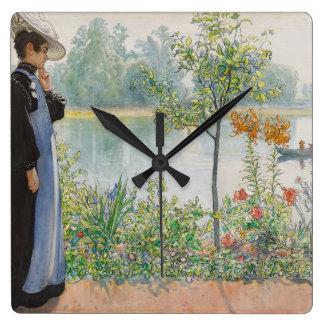 Carl Larsson Karin Lake Boat Wall Clock